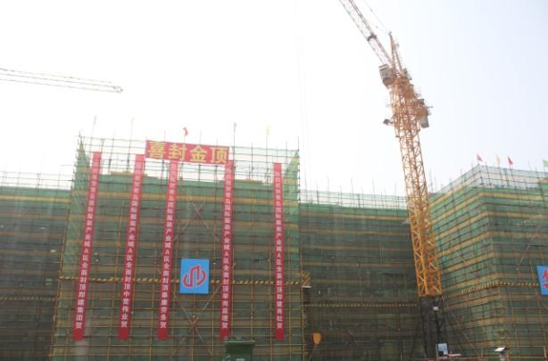 青岛国际服装产业城首期百余栋厂房全部封顶